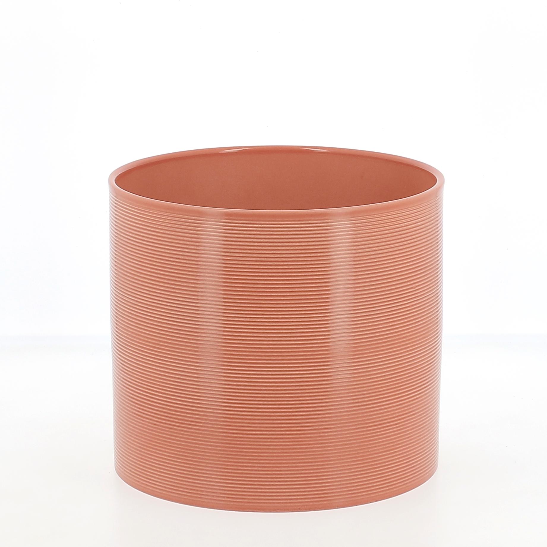 Vaso in ceramica papaya