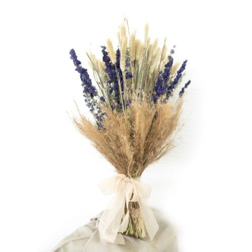 Bouquet Delphinium Viola Laugurus Agrostis Naturali
