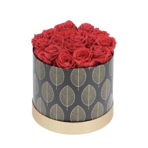 Cappelliera Rose Rosse Stabilizzate